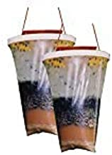 Flies Be Gone Fly Trap - Disposable Non Toxic Fly Catcher - Natural Bait Trap For Patios, Ranches, Outdoor Environments - Easy To Use Outdoor Fly Trap, Keeps Flies From Coming Indoors (2-Pack)