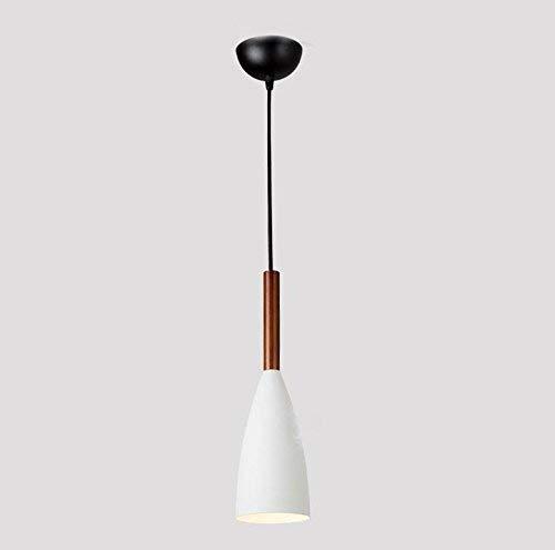 Eenvoudige moderne hanglampen, kopvlechtwerk, eiken ijzer, 3 kleuren wit, grijs, zwart, kroonluchter E27 10W Wit