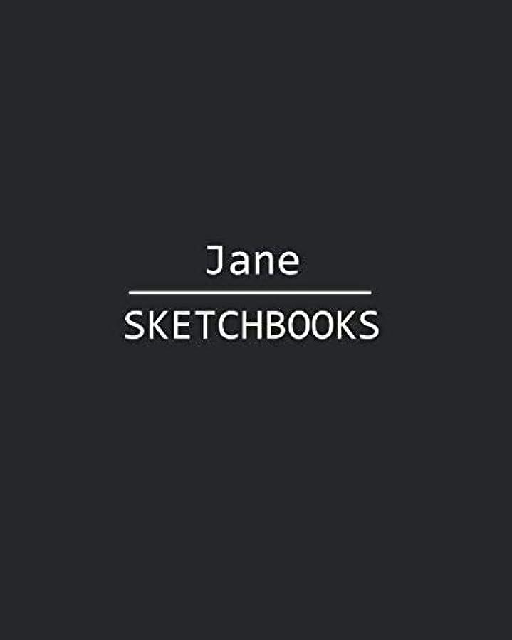 スカープ会議金額Jane Sketchbook: 140 Blank Sheet 8x10 inches for Write, Painting, Render, Drawing, Art, Sketching and Initial name on Matte Black Color Cover , Jane Sketchbook