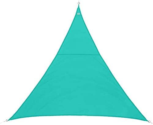 wuquansy Verde Triangular Impermeable Sombra Vela pérgola terraza balcón jardín al Aire Libre-Green_4*4 * 5.7m