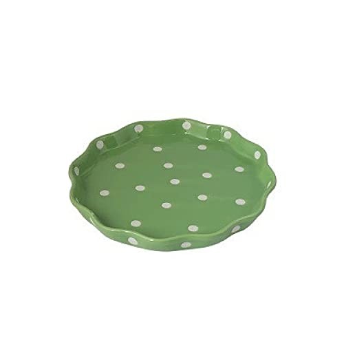 DZHTWSRYGR Plato Plato de Porcelana Punto de glaseado Plato de Porcelana Ensaladera Juego de Cuencos con asa Bandeja de Postre Bistec para el Desayuno