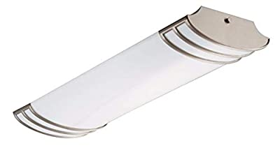 Lithonia Lighting FMLFUTL 24-Inch 840 BN 2-Foot Futra Linear Design for Kitchen| Office| Closet| 2180 Lumens, 120 Volts, 25 Watts, Wet Listed, Brushed Nickel