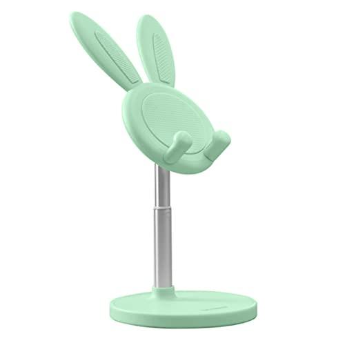 Lindo conejo conejo escritorio teléfono soporte portátil universal ajustable escritorio tableta titular verde