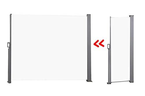 909 Outdoor Windscherm, Oprolbaar Zonnescherm, Crème, Tuinscherm, 170 x 300 cm