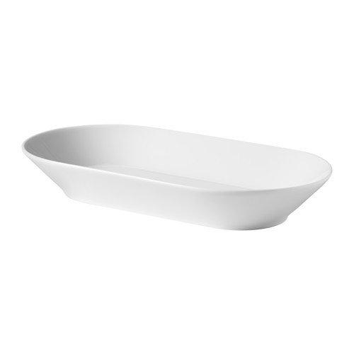 IKEA 365+ Servierplatte in weiß; (24x13cm)