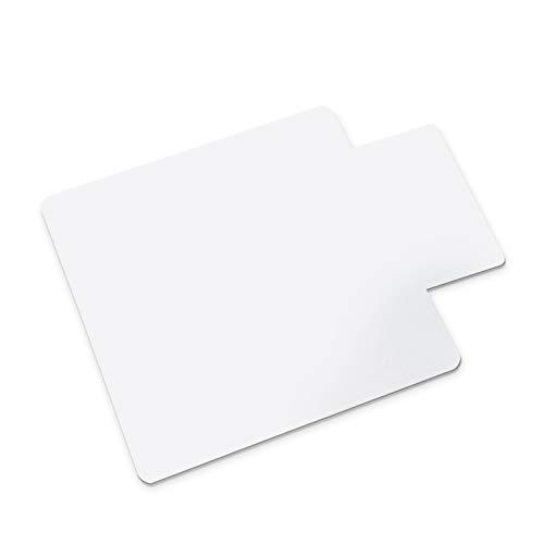Office Marshal Bodenschutzmatte für harte Böden, rechteckig mit Lippe, kein Recyclingmaterial, Bisphenol A (BPA) -frei | 90x120 cm