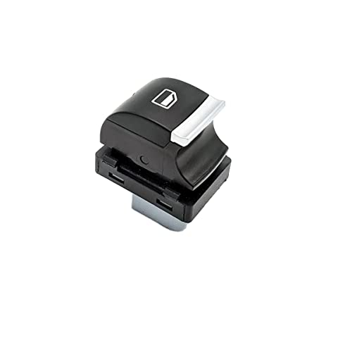 SISS Interruptor 4F0959855B para elevalunas eléctrico compatible con Audi A3 (8P, 8V), Audi Q7 (4L, 4M), puertas de copiloto y pasajeros