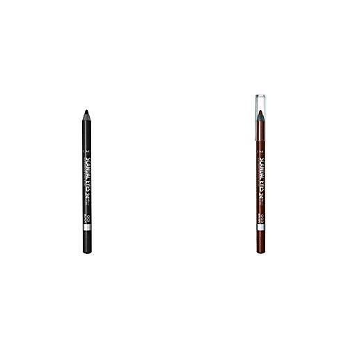Rimmel Scandaleyes Waterproof Gel Eye Liner Pencil, Black & Rimmel Scandaleyes 24hr waterproof eyeliner, Brown, Pack of 1