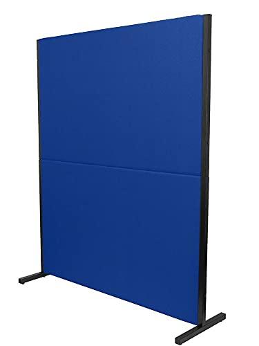 PIQUERAS Y CRESPO Modelo Valdeganga - Biombo separador para oficinas y centros de trabajo, desmontable y con estructura de color negro - Tapizado en tejido BALI color azul