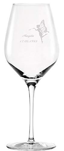 Rotweinglas Kristallglas personalisiert mit Gravur Name Text Motiv nach Wunsch 645 ml Geschenkidee für Weinkenner und Weinliebhaber