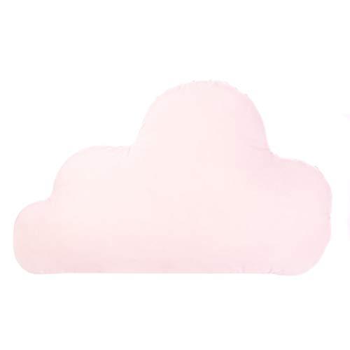 Amilian Wolken Kissen Kuschelkissen flauschig Dekokissen mit Füllung Sofakissen für Kinderzimmer Wohnzimmer Schlafzimmer weich und kuschelig Muster: Hellrosa