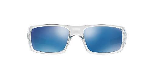 Oakley Men's OO9239 Crankshaft Rectangular Sunglasses, Polished Clear/Ice Iridium, 60 mm