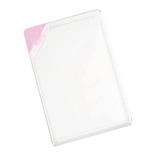 1 botella de agua transparente multicolor libro transparente portátil almohadilla de papel botella de agua bebidas planas hervidor de agua cocina comedor herramientas especiales -Francia, rosa
