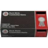 Dynarex 2523 Nitrile Exam Gloves, Large, Black (Pack of 100)