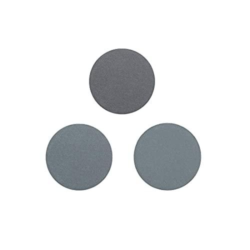 Muela abrasiva, 1 pulgada (2,5 cm), carburo de silicio, húmedo/seco, grano 1000, 1200, 1500, surtido, 30 piezas