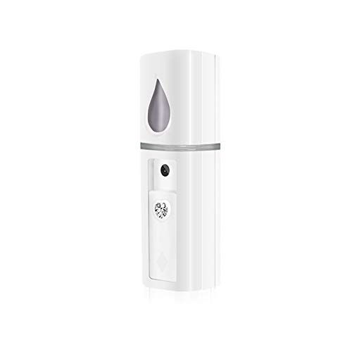 Jocelee 美顔スチーマー スチーマー ナノケア コンパクト 携帯ミスト 美顔スプレー ポケットタイプ USB充電式 保湿 補水 乾燥肌対策 鏡付き 旅行 家庭 オフィス (白)