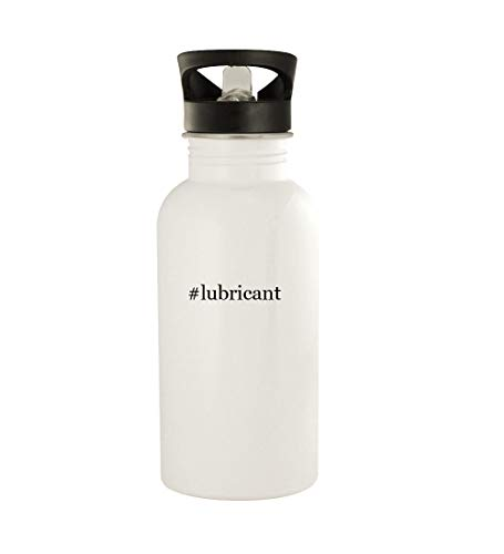 #lubricant - 20oz Stainless Steel Water Bottle, White