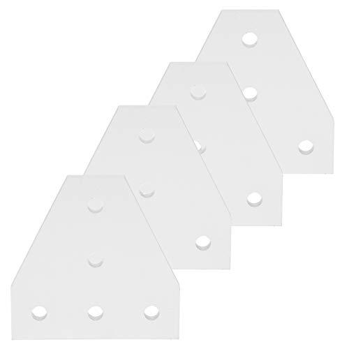 SALUTUYA Piastra di Giunzione a Forma di T, Parti profilate in Alluminio 203040 Resistente Argento, Staffa di Giunzione a 5 Fori, per Stampante 3D per edilizia(2020T Type)