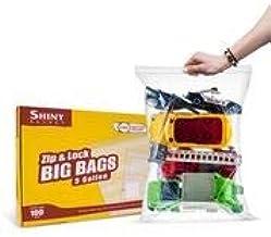 "[ 100 Count ] Extra Large Super Big Bags, Zip & Lock Jumbo Big Plastic Bags, 18""x24"" Clear 5 Gallon Bags, 100 Count"