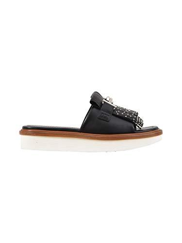 Tod's Luxury Fashion Damen XXW23A0Y500GOCB999 Schwarz Leder Sandalen   Jahreszeit Permanent