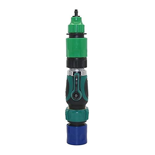 Conectores de la manguera 1 Set 3/4'Interruptor de válvula estándar americana con 4/7 mm 8/11 mm Adaptador de acoplamiento de la manguera del sistema de agua del jardín de los accesorios de riego