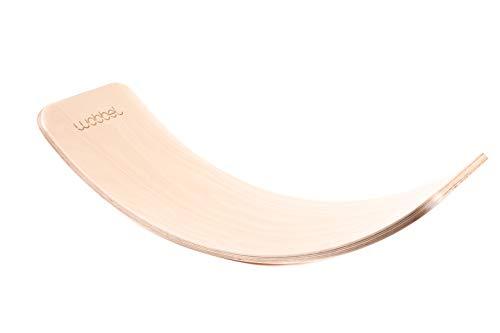 Wobbel Balanceboard transparent lackiert ohne Filz yogaboard