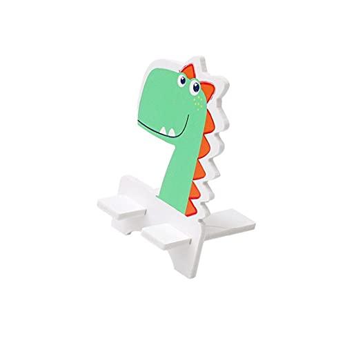 Creativa linda del teléfono celular del estilo animal de soporte de madera titular del teléfono inteligente de la tableta del teléfono móvil del soporte de montaje dinosaurio totalmente adaptado