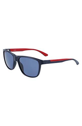 Calvin Klein Gafas de sol rectangulares Ck21509s para hombre, Azul marino mate, 55/17/145