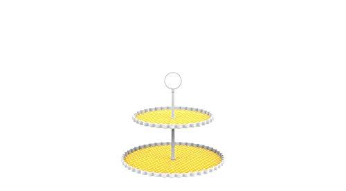 ZAK Dotty - Alzata a 2 Piani 21/27 cm, Colore: Giallo