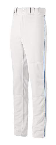 Mizuno Jungen Youth MVP Pro Piped Baseball-Hose, Weiß-königlich, XX-Large