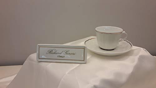 RICHARD GINORI Tazza caffè con piattino lt0.2 13.5 cm. Antico Doccia Pure White 01209