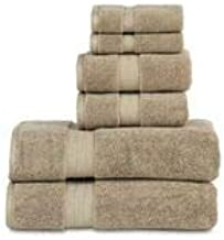 """804 GSM 6 Piece Towels Set, 100% Cotton, Premium Hotel & Spa Quality, Highly Absorbent, 2 Bath Towels 27"""" x 54"""", 2 Hand To..."""