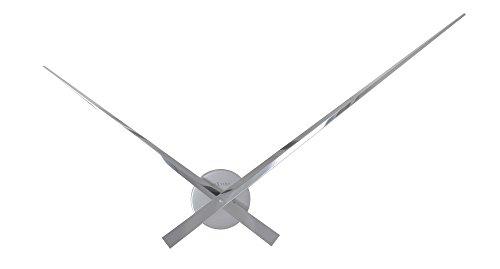 NeXtime Hands Wanduhren, Metall und Kunststoff, Silberfarben, Ø 85 cm