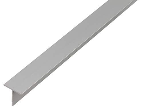 GAH-Alberts 473112 T-Profil | Aluminium, silberfarbig eloxiert | 1000 x 15 x 15 mm