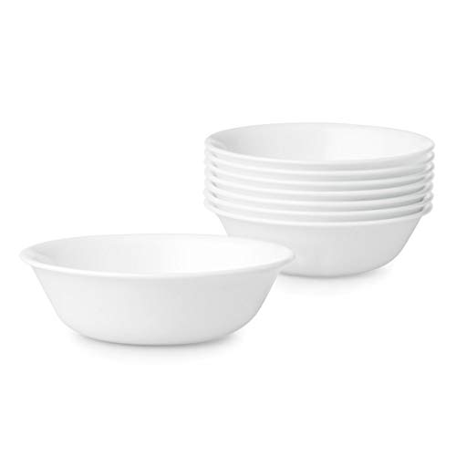 Corelle Chip Resistant, bowl sets, 8 Pieces, Winter Frost White