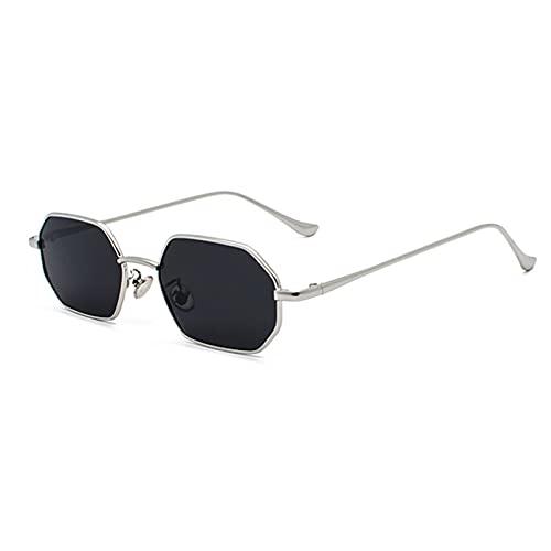 LUOXUEFEI Gafas De Sol Gafas De Sol Cuadradas Poligonales Para Hombre, Rojo, Negro, Para Mujer, Gafas De Sol Rectangulares, Verano