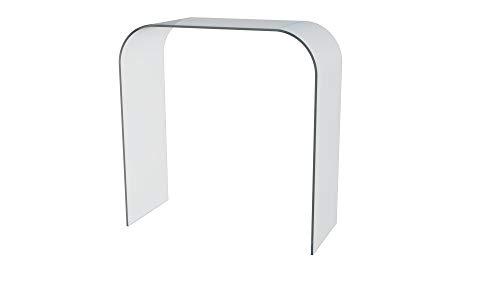 Consolle Tavolo Per Salotto Soggiorno Sala Da Pranzo Ingresso Tavolo In Vetro Temperato Design Moderno Elegante Curvo - Luxury Z-103 Dimensioni 78 x 33 x 75 cm