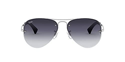 Ray-Ban Unisex Rb 3449 Sonnenbrille, Silber (Gestell: Silber, Gläser: Grau Verlauf 003/8G), Large (Herstellergröße: 59)