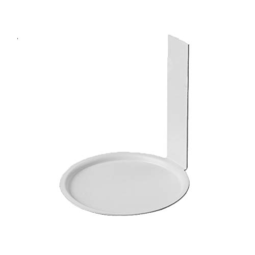 L-H Montagnes Russes En Métal, Accessoires Tasse D'os De Porcelaine, Tasse De Café/Verre Coaster, Tenture Pendentif En Fer Décoratif, 8.2cm De Diamètre (Color : White, Size : 8.2x8.8cm)