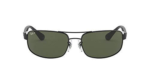 Ray-Ban Unisex Rb 3445 Sonnenbrille, Schwarz (Gestell: schwarz, Gläser: verspiegelt grünverlauf 002/58), X-Large (Herstellergröße: 64)