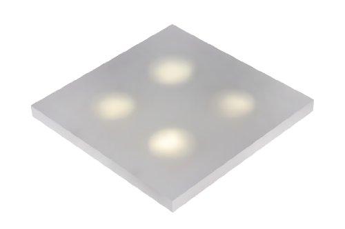 Lucide Winx de LED–Lámpara de pared Baño–LED–2x 7W 3000K–IP21–Opal, acrílico, opalado, 35 x 35 x 5,5 cm, GX53 7 watts 230 volts