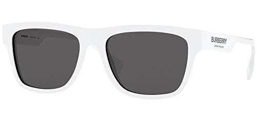 BURBERRY Gafas de Sol B LOGO BE 4293 WHITE/GREY 56/17/145 hombre