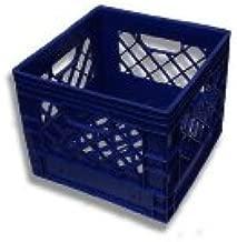 16qt New Plastic Milk Crates Blue Color