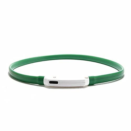 Morninganswer Collar Luminoso LED para Perros Gatos Collar Luminoso de Seguridad Recargable USB con Longitud Ajustable 3 Modos de luminiscencia