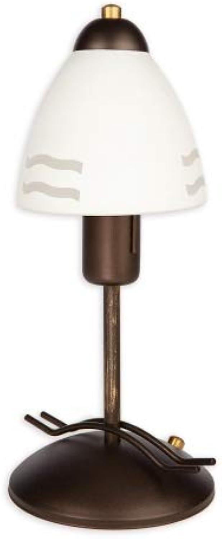 Tischlampe modern rost wenge 60W E27 Solo