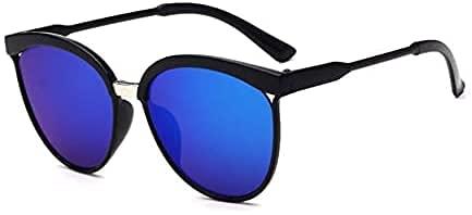 Gafas de sol para mujer, unisex, de metal, multicolor, protección UV400, para deportes al aire libre, golf, ciclismo, pesca, senderismo, gafas de sol (C)