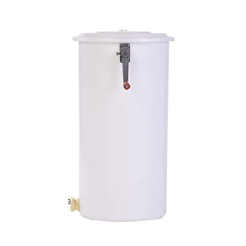 Extractor de miel de Exla Honey, de plástico, 2 marcos, extractor de miel manual, con cubierta, tamaño de la carcasa interior 25 x 45 cm