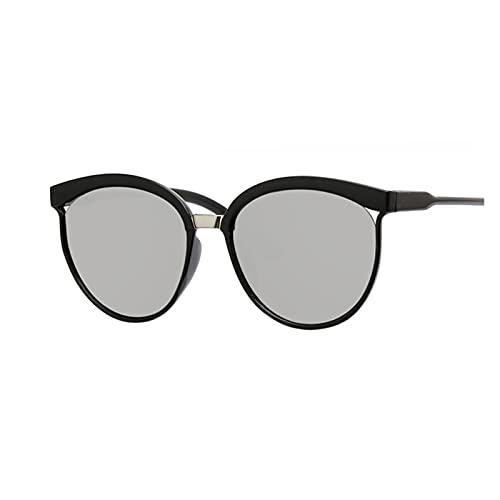 ZZDH Gafas de Sol Gafas Retro Unisex Frame Femenino Oval Eyewear UV400 Ojos Gafas para Mujer Regalo para Madres (Lenses Color : Silver)