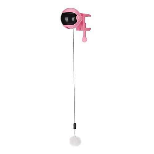 Nuobi Bola de elevación automática de PRT, Bola de Juguete de elevación automática Inteligente Desmontable para Gatos para Gatitos para Mascotas(Rosado)