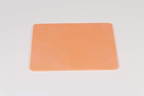 Lado 419 - Plancha picado caucho, 15 x 21 cm, color marrón